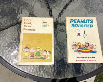 """Vintage 50's """"PEANUTS CHARACTERS BOOKS"""" by Charles Schulz  Set of 2"""