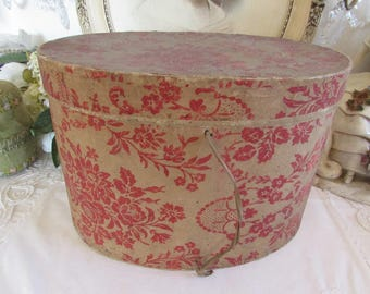Antique French superb card hat box.