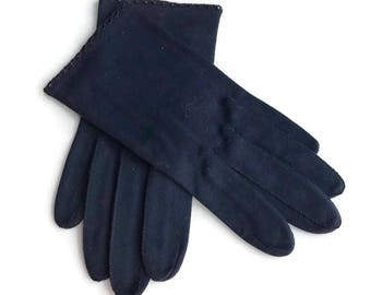 Vintage Blue Gloves Light And Lovelee Cotton Gloves