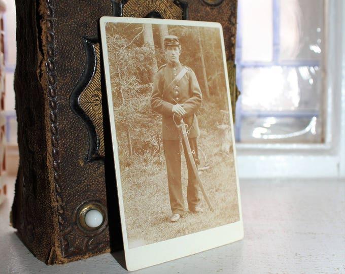 Antique Civil War Soldier Photograph Carte De Visite 1800s