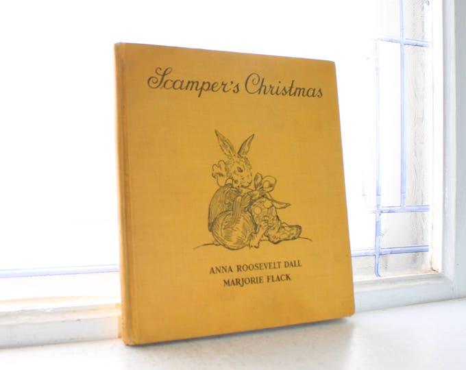 Vintage Book Scamper's Christmas Anna Roosevelt Dall FDR Granddaughter