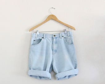 high waist denim shorts / 31