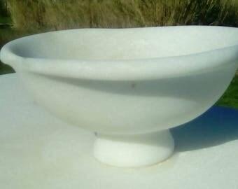 White Pantelis Marble Archaic Bowl