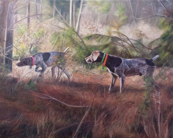 Custom Pet Portrait - Dog Painting - Pet Painting - Hunting Dog - German Short Haired Pointer - Oil Painting