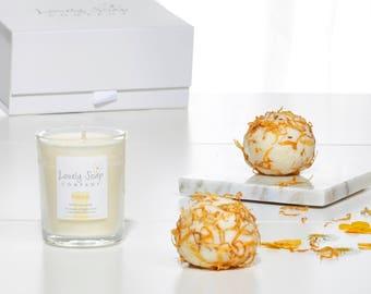 Bathtime Pamper Gift Set - Aromatherapy Bath Gift Set - Spa Bath Gift Set - Gift for Friend - Gift for Mum - Essential Oil Bath Products