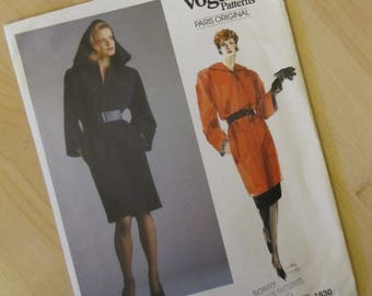 Uncut Vintage Vogue Sewing Pattern 1630 - Yves Saint Laurent - Misses Dress, Tunic and Skirt - Size 10
