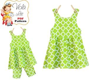 Girls Dresses. Girls Dress Sewing Pattern, pdf Sewing Pattern. Childrens Clothing Pattern. Girls Top, Toddler Top. Instant Download, Rosie