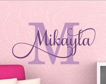 Girls Name Decal Girl Name Wall Decal Girl Room wall Decal Girl Room Wall Decor Baby Girl Nursery Wall Decal Wall Decor Personalized