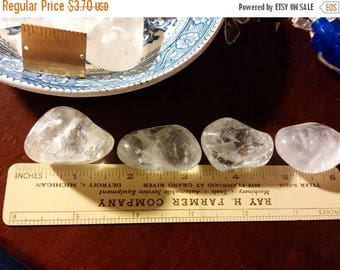 Etsy On Sale Clear Quartz Rock Crystal, Over an Inch, Some have Rainbows, Polished to a Smooth Silky Feel, Beautiful ,Destash, Price is for