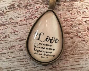 1 Corinthians 13 necklace