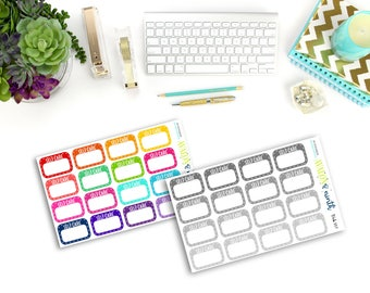 Self Care Stickers // Mental Health Stickers // Planner Stickers // TRCK 116-117
