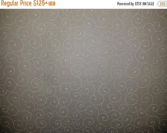 ON SALE Swirls, Floral Fabric, Off White, Tone on Tone, Cream Floral Fabric, Off White Floral Fabric, 01168A