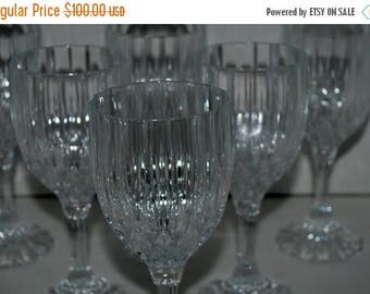 on sale Vintage crystal wine glasses   set of 6 cut crystal  vintage crystal stemware
