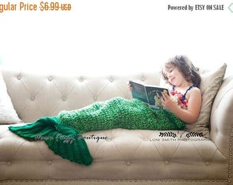 SUMMER SALE Instant Download PDF Crochet Pattern - No. 79 Quick & Easy Mermaid Tail Blanket Cocoon - 4 Sizes Toddler Thru Adult