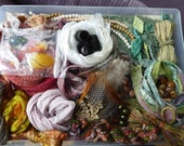 """Hope jacare - """"Spirit doll"""" Creativity pack  - hand dyed threads, fabric and other goodies - CP39"""