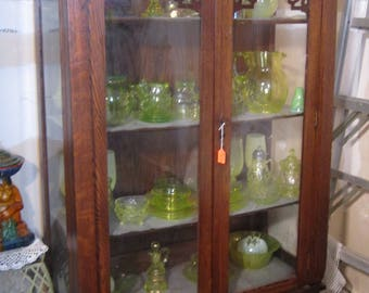 Antique Oak China Cabinet Glass Sides and Front PICK UP ONLY