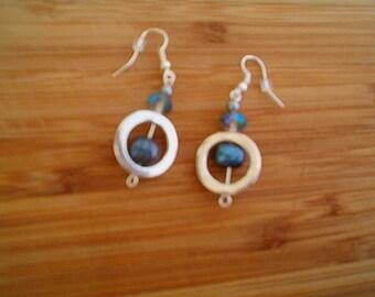 BLACK PEARL Earrings, Pierced, Freshwater Pearl Earrings, Peacock Black  Pearls, Modern, Lovely Pearls, June Birthday, June Birthstone