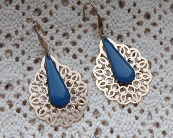 Persian Jewllery, Iranian Earrings, Persian Earrings, Brass Earrings, White Earrings ,Iranian inspiration, Iran, Persian, made in Belgium