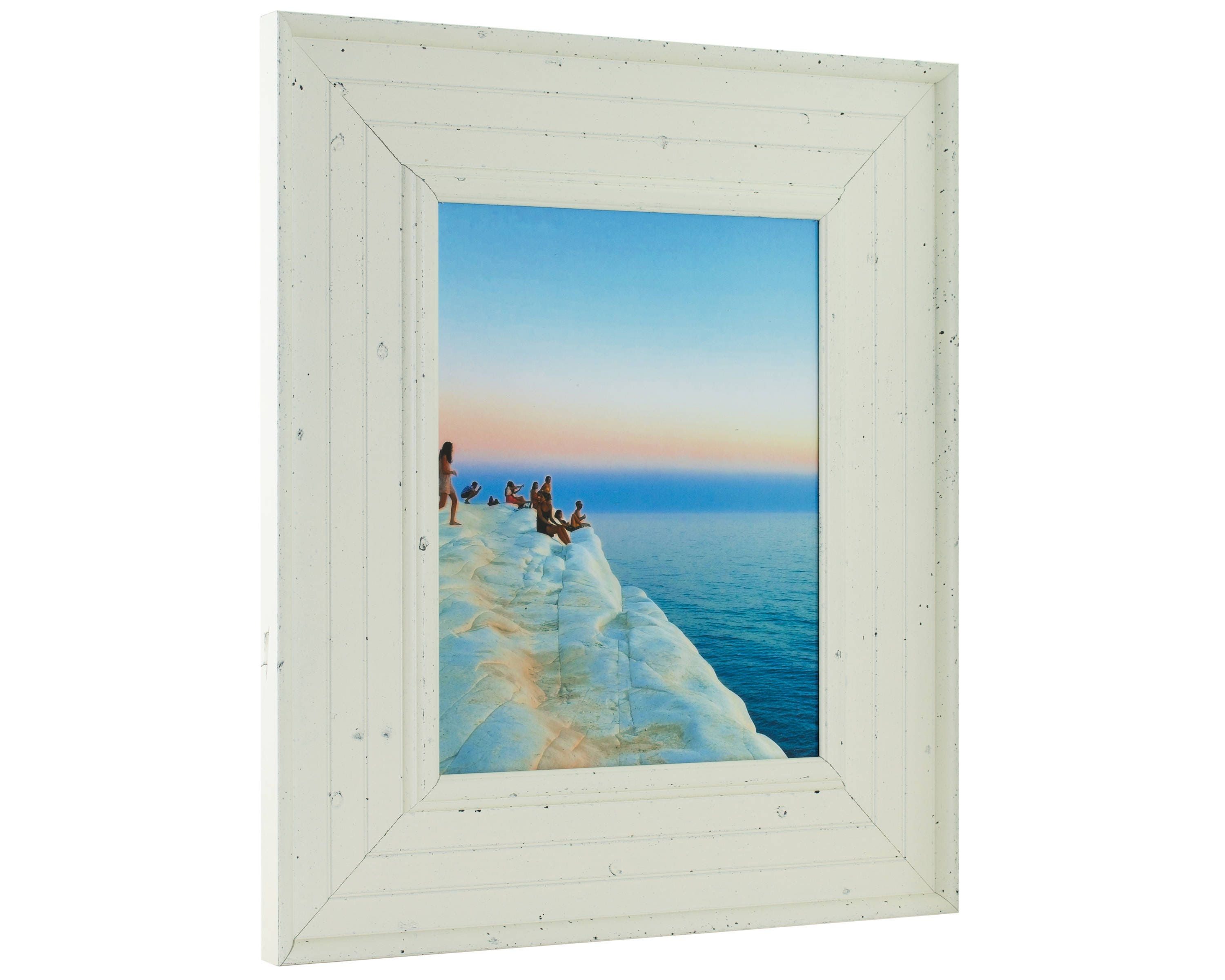 Craig Frames, 22x28 Inch Weathered Off-White Picture Frame