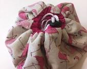 Flamingo Make up pouch, flamingo gift  travel drawstring make up mat