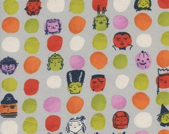 PRESALE - Lil' Monsters - Dress Up in Grey - Cotton + Steel - 5126-01 - 1/2 Yard