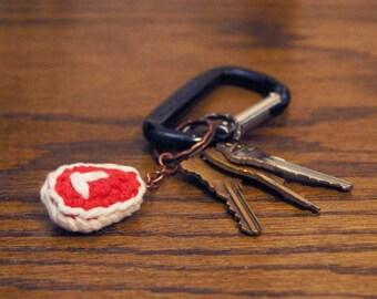 Crocheted Steak Amigurumi Kawaii Keychain Miniature