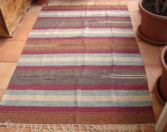 Kilim scatter or area rug, 180 cms. x 120 cms or approx. 6' x 4ft. made in India,100% cotton,vintage un-used