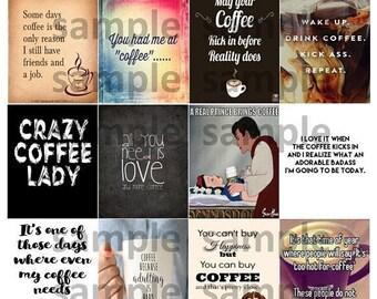 Coffee, #2-1, Quotes, Planner Stickers, Motiviation, Love, Bean, ECLP, Plum Paper Planner, Happy Planner