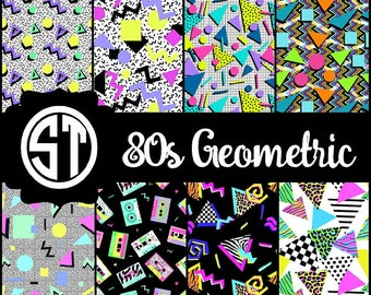 80s Geometric 90s Vinyl (Indoor, Outdoor, Outdoor Glitter, Heat Transfer, Glitter Heat Transfer) Lamination available Mask not included