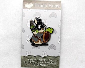 Dwarf Bunny Rabbit Enamel Pin - House Rabbit - Soft Enamel Pin - Bunny lapel pin - Bunnies gift
