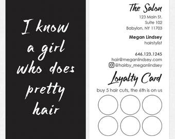 hairstylist loyalty / reward cards - color both sides - FREE UPS ground shipping