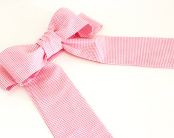 Ceremony Belt to be tied in Pink Vichy - ON ORDER