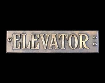 Replica Vintage Elevator Plaque