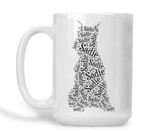 Schnauzer Custom Name Dog Mug Personalized Dog Lover Gift Idea Dog Mom Dad Mug Miniature Schnauzer Gifts Pet Memorial Pet Loss Gifts