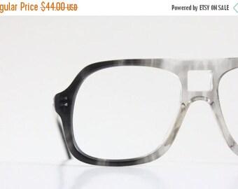 ON SALE Vintage Charcoal Aviator Eyeglass Frames