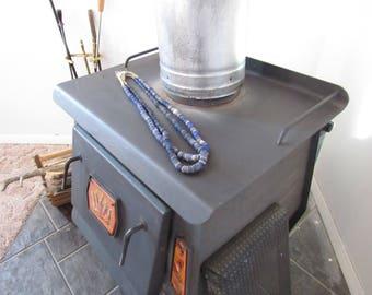 Blue glass Dread beads