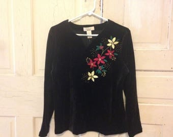 VELVET holiday sweater! Size SMALL