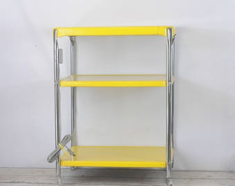 Vintage Cosco Kitchen Cart Rolling Kitchen Cart Yellow Cosco Cart Electric Plug