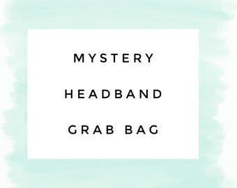 Mystery Headband Grab Bag Sale - 3 Headbands - baby headband elastic lace flowers