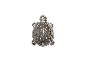 Silver Toned Turtle Tortoise Magnet