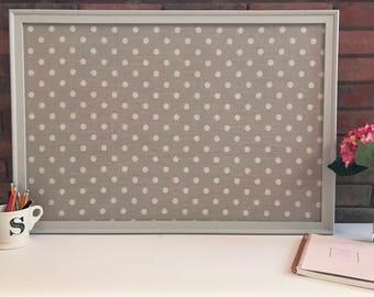 Office decor wall organizer Framed Bulletin board Cork Board Message board Design Board Girls Room