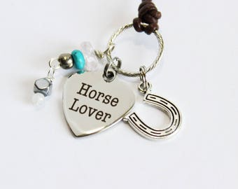 Horse lover charm necklace