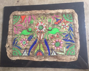 Mexican Folk Art on Handmade Paper