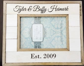 Personalized Picture Frame, customized wedding gift, newlywed gift, anniversary gift,