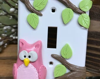 Owl Switch Plate Cover, Single Switch Plate, Owl Decor