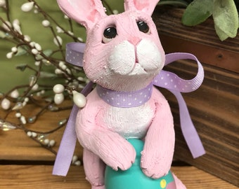 Easter penguin penguin sculpture gifts for him gift for easter bunny easter decoration bunny with egg easter rabbit negle Image collections