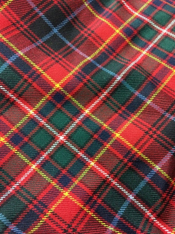 Innes Tartan Fabric Remnant Piece 100 10oz Pure New Wool