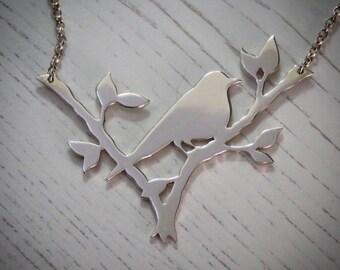 Handmade Sterling Silver Blackbird Necklace