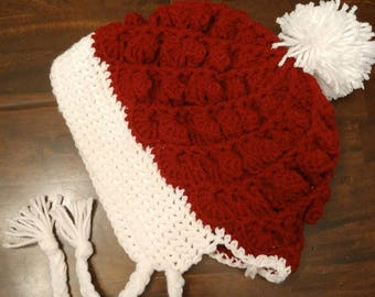 Red and white spiral hat