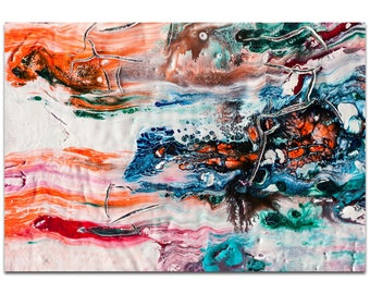 Abstract Wall Art 'Sunset on Her Breath 1' by Jamie Anton - Colorful Urban Decor Contemporary Color Layers Artwork on Metal or Plexiglass